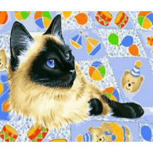 "GX27916 Картина по номерам ""Сиамская кошка"", 40х50 см"