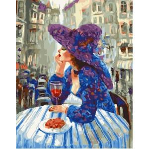 """GX25109 Картина по номерам """"Дама за столиком"""", 40х50 см"""