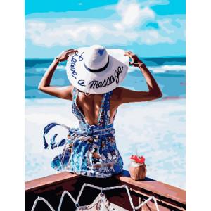 Картина по номерам GX 30554 Отдых на пляже 40*50