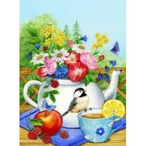 GX5539 Чай с лимоном картины по номерам на холсте 40х50 см