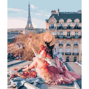 """GX25419 Картина по номерам """"Пикник на крыше в Париже"""", 40х50 см"""