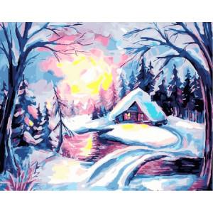 Картина по номерам GX 30743 Зимнее утро 40*50