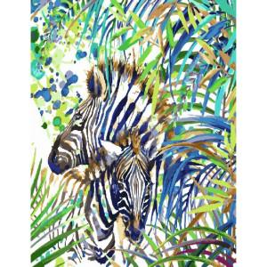 GX27643 Картина по номерам Зебра в тропиках (Фаенкова Елена) 40*50