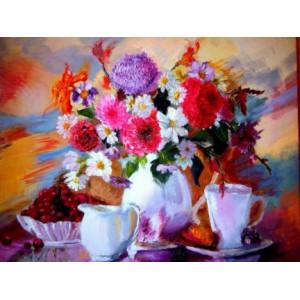 """GX26753 Картина по номерам """"Астры и ромашки"""", 40х50 см"""