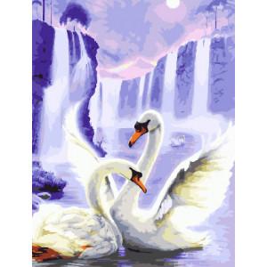 Картина по номерам GX 29900 Танец лебедей 40*50