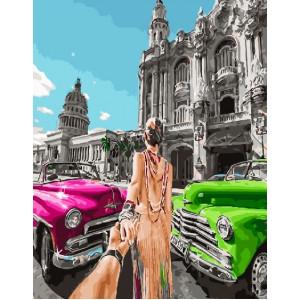 """GX26507 Картина по номерам """"Следуй за мной.Куба"""", 40х50 см"""