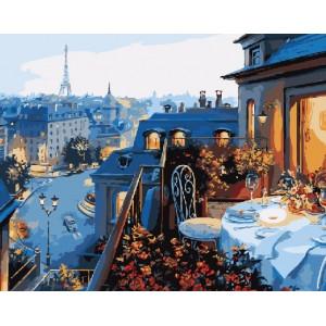 """GX7255 Картины по номерам """"Ужин в Париже"""", 40х50 см купить в Омске недорого"""