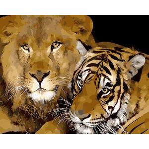 """Q002 """"Лев и тигр"""", 30х40 см - купить недорого в интернет магазине"""
