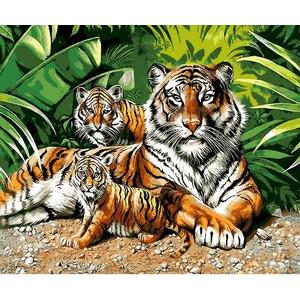 """Q1158 """"Тигрица и два тигренка"""", 30х40 см - купить недорого в интернет магазине"""