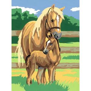 """ЕХ5069 """"Лошадь и жеребенок"""", 30х40 см - купить недорого в интернет магазине"""