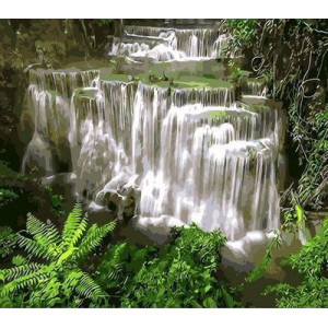 """Q315 """"Каскадный водопад в зелени"""", 30х40 см - купить недорого в интернет магазине"""