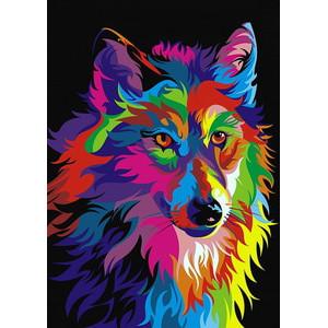 """ЕХ5252 """"Радужный волк"""", 30х40 см - купить недорого в интернет магазине"""