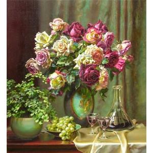 "Q1359 ""Розы, виноград, наливка"", 30х40 см - купить недорого в интернет магазине"