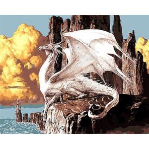 "GХ9005 ""Белый дракон"", 40х50 см"