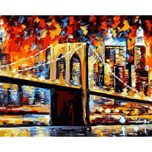 """GХ9021 """"Нью-Йоркский мост. Афремов"""", 40х50 см"""