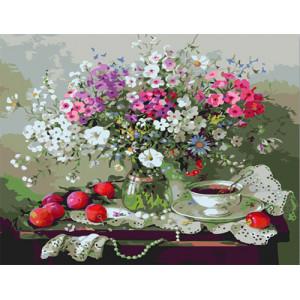 "GX6438 ""Цветы, яблоки, чай"", 40х50 см купить в Омске недорого"