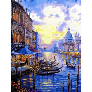 """GХ7191 """"Стоянка лодок в Венеции"""", 40х50 см"""