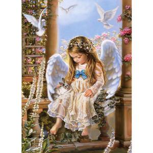 """G425 """"Девочка-ангел с кроликом"""" ,40х50 см купить в Омске недорого"""