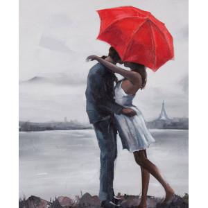 "GХ8605 ""Поцелуй под красным зонтом"", 40х50 см"