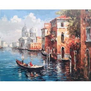 "GХ8606 ""Гондола в Венеции"", 40х50 см"