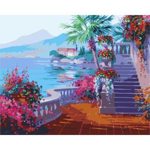 """GХ7243 """"Терраса, лестница, море"""", 40х50 см"""