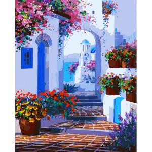 "GХ7213 ""Белая арка и цветы"", 40х50 см"