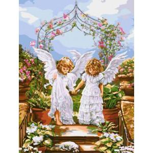 """GХ8966 """"Два ангела перед аркой"""", 40х50 см"""