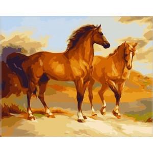 """G338 """"Пара коней"""", 40х50 см"""