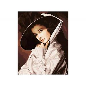"""GX6024 """"Девушка в шляпе"""", 40х50 см"""