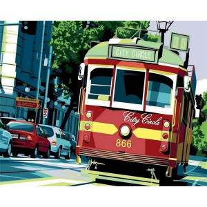 "GX6030 ""Красный трамвай"", 40х50 см"
