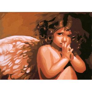 """GX6269 """"Грустный ангел"""", 40х50 см купить в Омске недорого"""