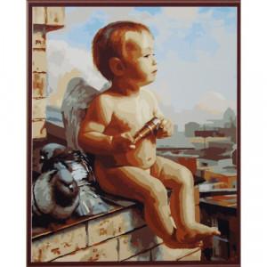 """GX6404 """"Ангелочек на крыше"""", 40х50 см купить в Омске недорого"""