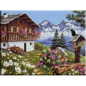 """GX6711 """"Домик в горах"""", 40х50 см"""