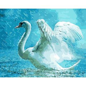"""GX9182 """"Лебедь под дождем"""", 40х50 см"""