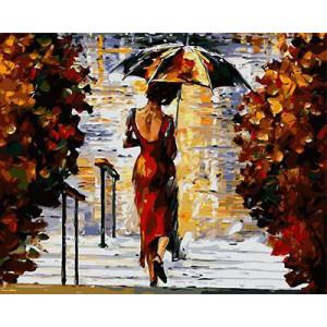 """GX9125 """"Девушка с зонтом спиной"""", 40х50 см купить в Омске недорого"""