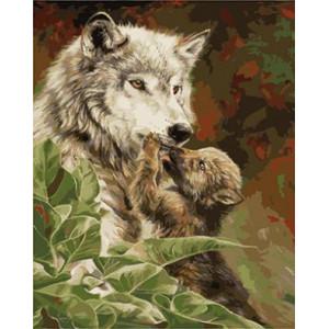"GX9115 ""Волчица и щенок"", 40х50 см"