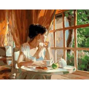 """GX9108 """"Девушка смотрит в окно"""", 40х50 см купить в Омске недорого"""