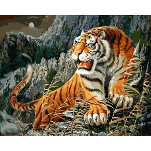 """GX9030 """"Тигр у скалы"""", 40х50 см"""