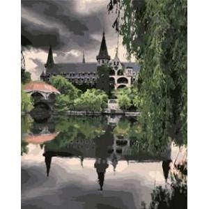 """GX8593 """"Отражение замка в озере"""", 40х50 см"""