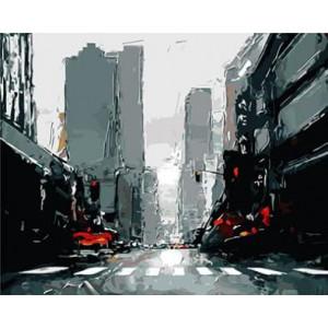 "GX8636 ""Нью-Йорк в красно-черных тонах"", 40х50 см"