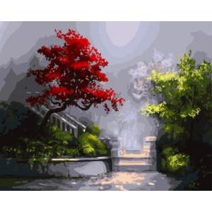 """GX8646 """"Красное дерево около лестницы"""", 40х50 см"""