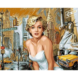 """GX8882 """"Мерилин Монро на фоне Нью-Йорка"""", 40х50 см"""
