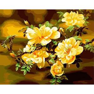 "GX9201 ""Желтые цветы на ветке"", 40х50 см"