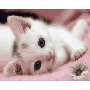 """GX9218 """"Розовый котенок"""", 40х50 см"""