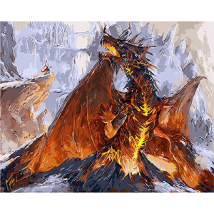 """GX9219 """"Огненный дракон"""", 40х50 см"""