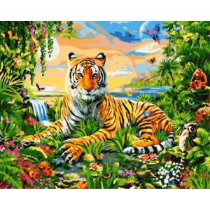 """GХ8973 """"Тигр в ярких красках"""", 40х50 см"""