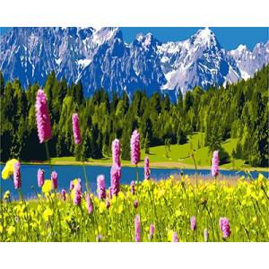 """GХ3141 """"Горы, лес, озеро"""", 40х50 см"""