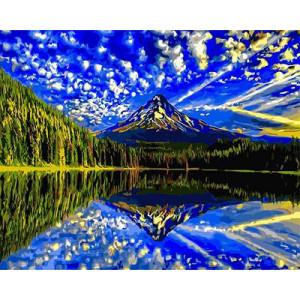 "GХ3184 ""Отражение неба в озере"", 40х50 см"