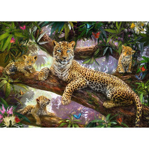 "GХ3256 ""Семья леопардов"", 40х50 см"