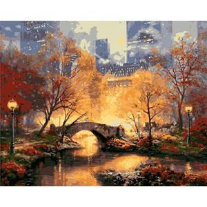 "GХ3478 ""Мост в вечернем парке"", 40х50 см"